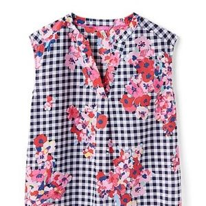 NWT Preppy gingham and floral top